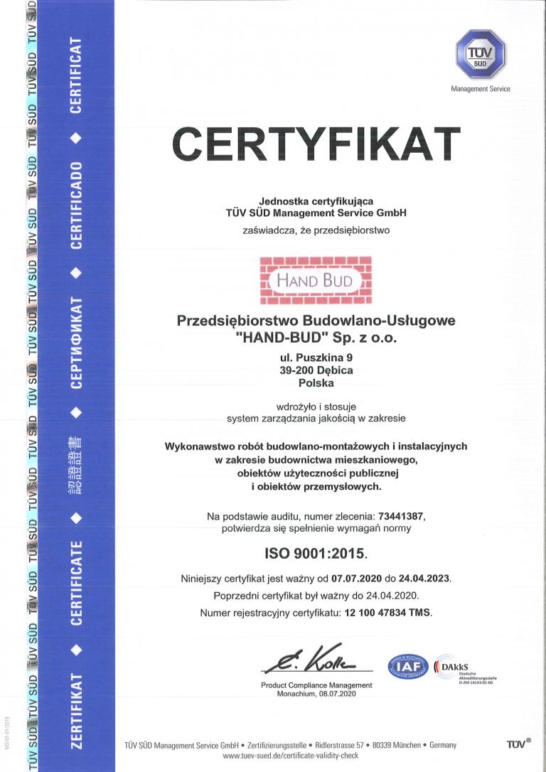 1.1. CERTYFIKATY TUV SUD 2020 PL-1